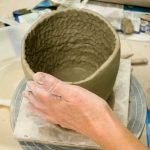 making a coiled pot