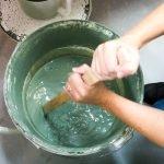mixing the glaze